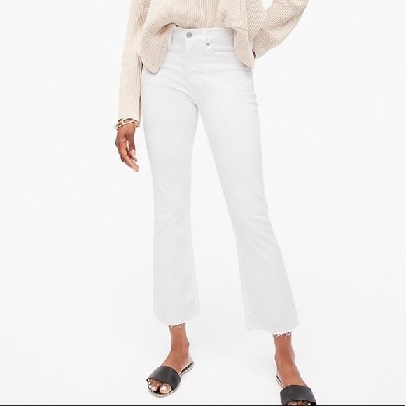 "J crew 9"" Demi boot crop jeans white size 29"